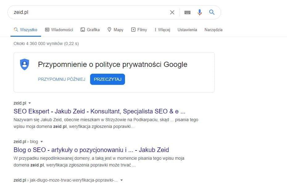 jakie są rodzaje wyników wyszukiwania w Google
